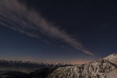 Noč v Julijskih Alpah