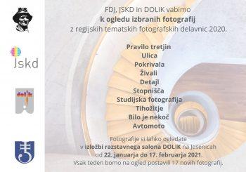 Razstava fotografij z regijskih tematskih fotografskih delavnic 2020