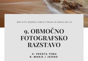 Razpis za 9. OBMOČNO FOTOGRAFSKO RAZSTAVO 2021